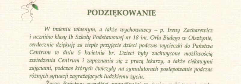 The visit of Primary School No. 18 in Olsztyn